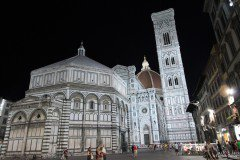 Giotto's Campanile and the Duomo at night, Florence