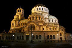Alexander Nevsky Cathedral at night, Sofia