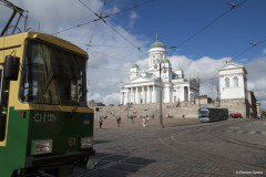 Helsinki Cathedral and tramway