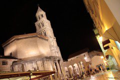 Cathedral of Saint Domnius at night, Split