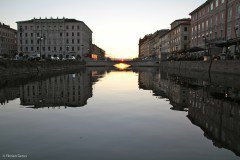 Sunset on the canal, Trieste