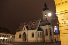 Church of St. Mark, Zagreb at night