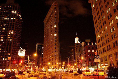 Flatiron Building de nuit, New York
