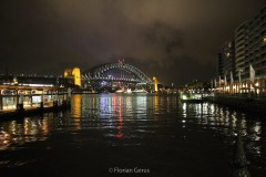 Harbour Bridge de Sydney de nuit