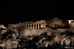 Parthenon on the Athenian Acropolis at night