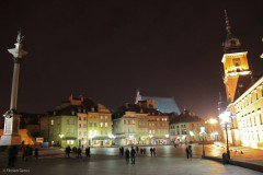 Castle Square at night, Warsaw