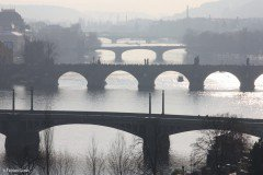 Bridges over the river Vltava, Prague