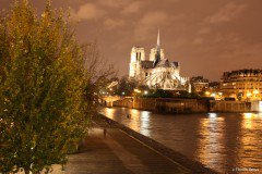 The river Seine with Notre-Dame de Paris