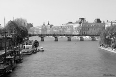 The river Seine with the pont des Arts