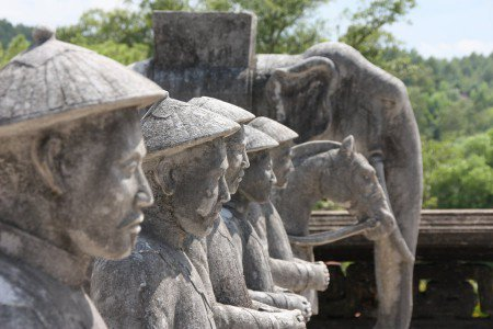 Statues, Angor, Cambodge