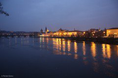 The river Vltana at night, Prague